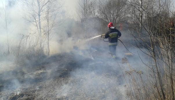Pożary traw: Strażacy odnaleźli ciało kobiety