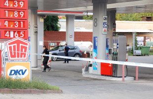 Nożownicy na stacji benzynowej!