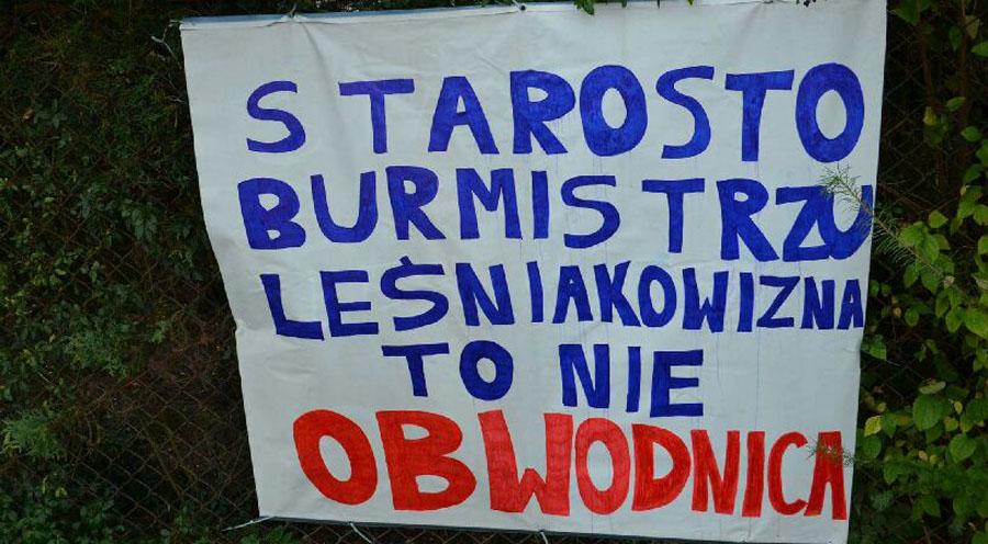 Leśniakowizna protestuje!