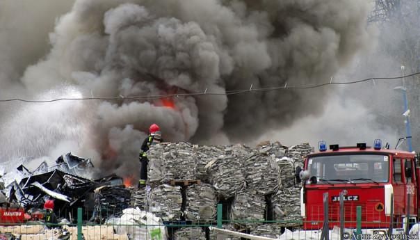 Podpalają odpady na składowiskach