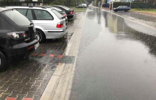 Woda na ulicach miasta