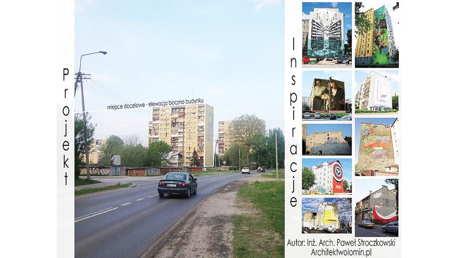 """""""Brama do miasta"""" - zamiast czołgu - mural!"""
