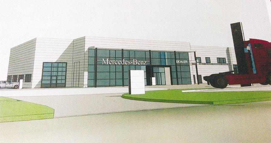 Mercedes w Radzyminie