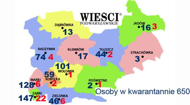 Stuacja epidemiologiczna na terenie powiatu wołomińskiego związana z koronawirusem