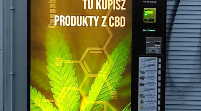 Automaty z logo marihuany przyciągają młodzież