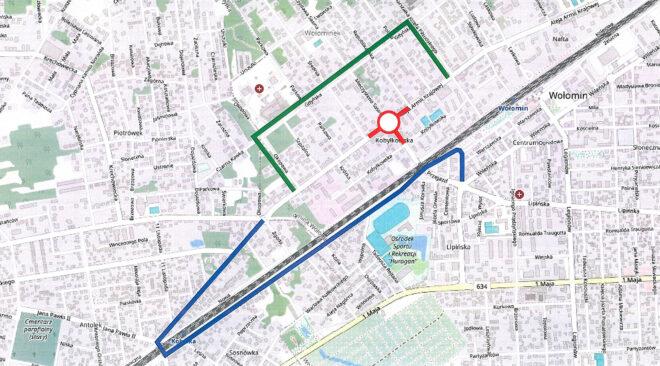 28 lipca zostanie wyłączone z ruchu skrzyżowanie Al. Armii Krajowej z ul. Sasina w Wołominie