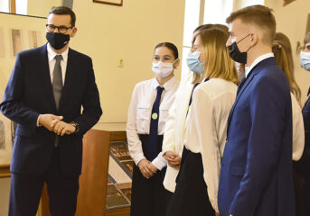 Premier w radzymińskim liceum